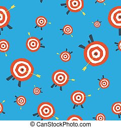 Seamless pattern with target