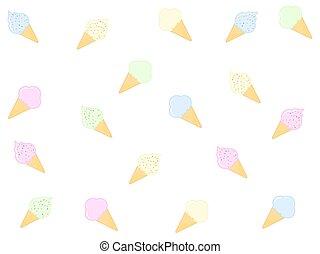 Seamless pattern with tasty ice cream