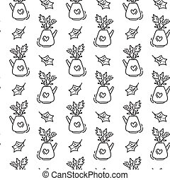 Vector Stock - Tea pots and cups with pattern. Clipart Illustration  gg64048335 - GoGraph