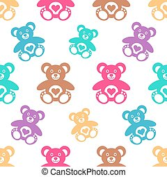 Seamless pattern with teddy bears - Seamless pattern with...