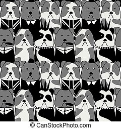 seamless pattern with the Bulldog