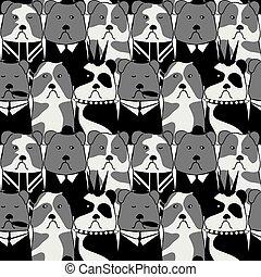 seamless pattern with the Bulldog