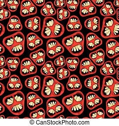 Seamless pattern with the ilustration of chili pepers