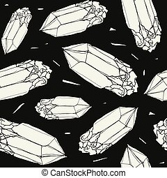 Seamless pattern with the image of a crystal