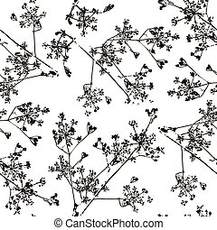 Seamless pattern with the image of herb