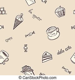 Seamless pattern with the image of