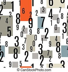 Seamless Pattern with the Numbers