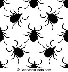 Seamless pattern with Tick. Mite. hand-drawn Tick, Mite ....