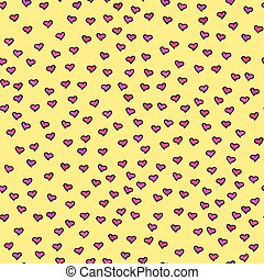 Seamless pattern with tiny hearts. - Seamless pattern with ...