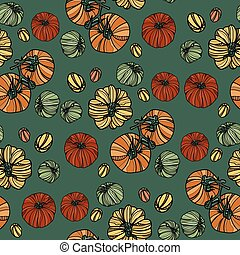 Seamless pattern with tomatoes.