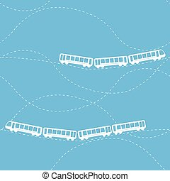 Seamless pattern with train