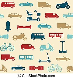 Seamless pattern with transport icons