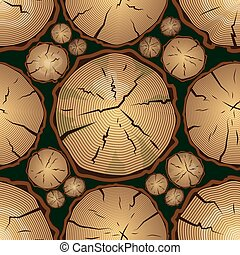 Seamless Pattern with Tree Rings