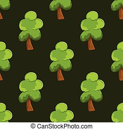 seamless pattern with tree