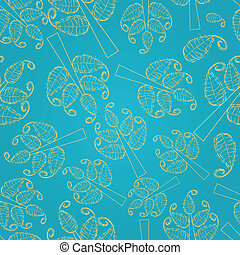Seamless Pattern with Tree Silhouettes