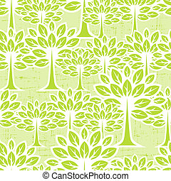 Seamless pattern with trees.
