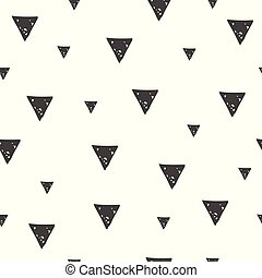 Seamless pattern with triangles in scandinavian style....