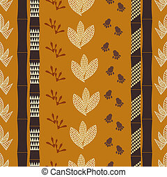 Seamless pattern with Tribal drawing