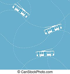 Seamless pattern with trolleybus - Seamless flat cartoon ...