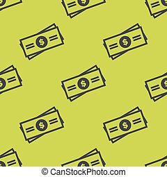 Seamless pattern with truck