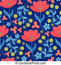 pattern with tulips