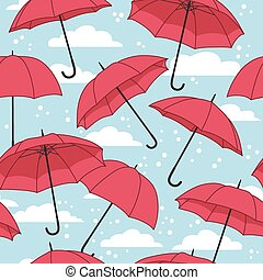 seamless pattern with umbrellas