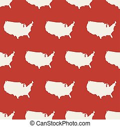 Seamless pattern with USA map. Vector illustration