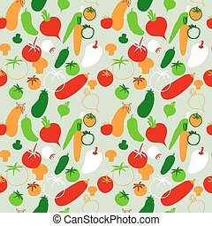 Seamless pattern with vegetables on