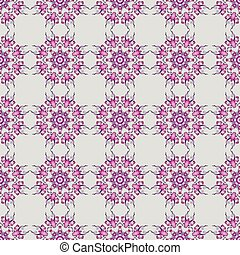 seamless pattern with Victorian style on a monochrome background. Vector.
