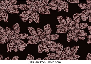 Seamless pattern with vintage magnolia flowers. Vector illustration for fabrics, gift packaging, textiles and card design