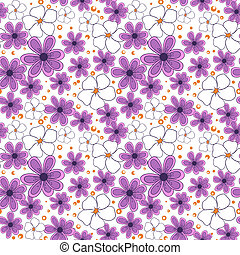 seamless pattern with violet flowers