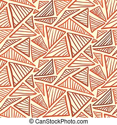 Seamless pattern with warm terra cotta triangles - Doodle...