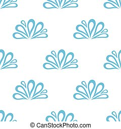 seamless pattern with water drop