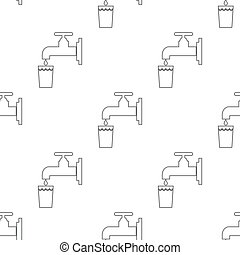 seamless pattern with water tap