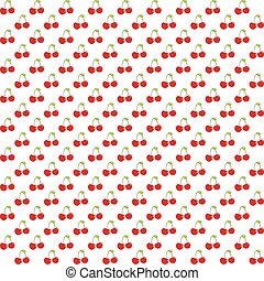 Seamless pattern with watercolor berry cherry. Endless...
