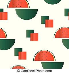 seamless pattern with watermelon illustration