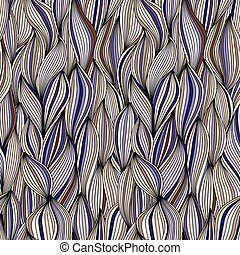 Seamless pattern with wave Threads
