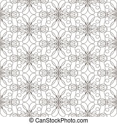 Seamless pattern with wavy lines lines on white background