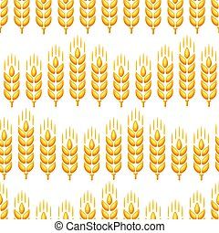 Seamless pattern with wheat.