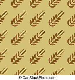 Seamless pattern with wheat