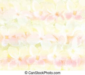 Seamless pattern with white flowers on grunge striped background in pastel colors