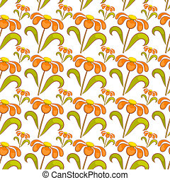 Seamless pattern with wildflowers