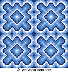 Seamless pattern with winter motif