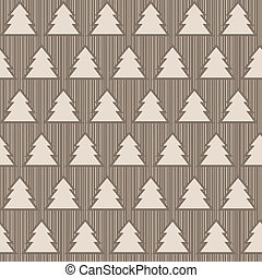 Seamless pattern with x-mas trees