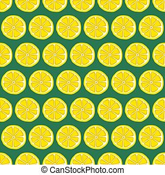 Seamless pattern with yellow lemons. Vector illustration.