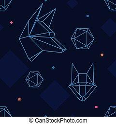 seamless pattern wolf