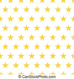 Seamless pattern. Yellow stars on a white background. Vector illustration