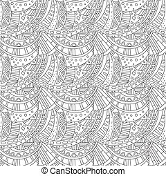 Seamless Pattern Zentangle Ornament Coloring Book Page...