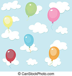 seamless pattern,colorful balloons
