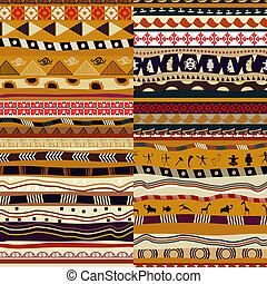 seamless, patterns., ベクトル, セット